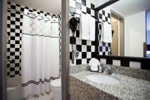 Best Western River North Hotel Rooms Bathroom