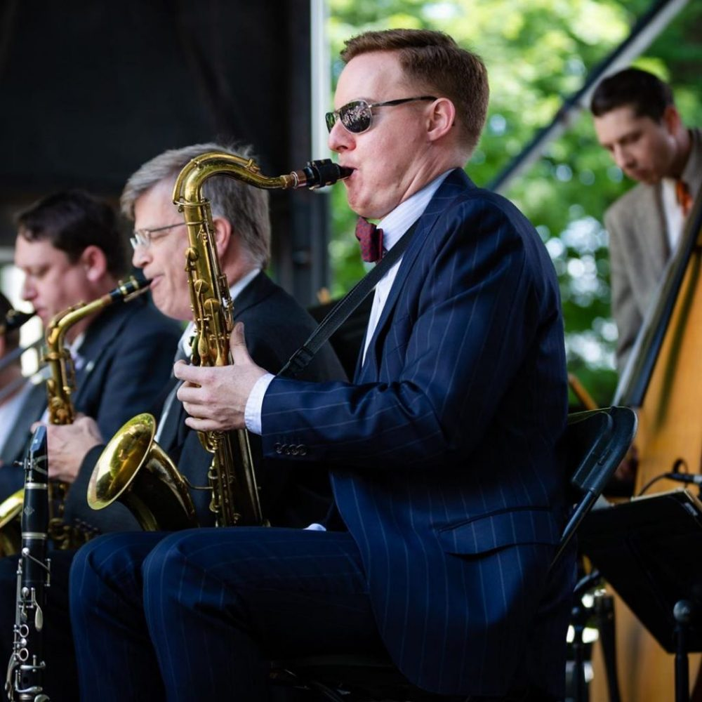 Concert performer playing Saxophone