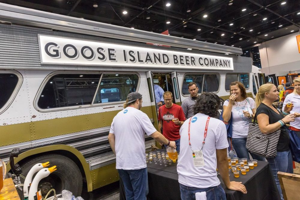 Beer tasting at Goose Island Beer Company event