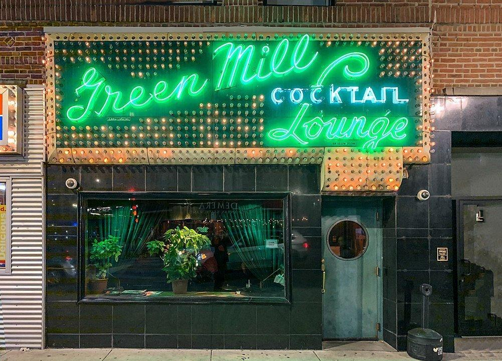 Front of Green Mill Cocktail Lounge, Chicago