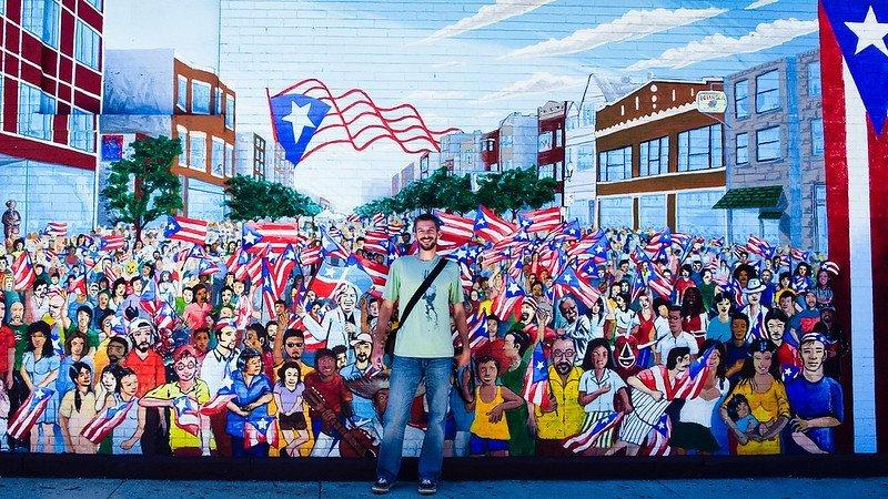 "Humboldt Park's ""Sea of Flags"" mural 