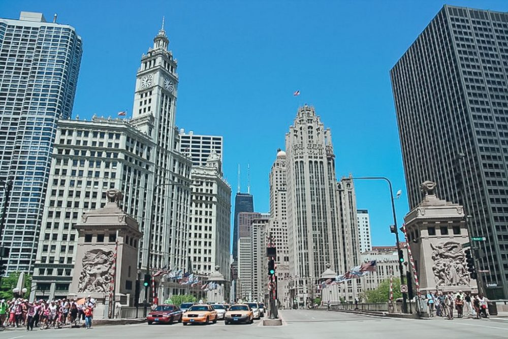 Magnificent Mile buildings city center