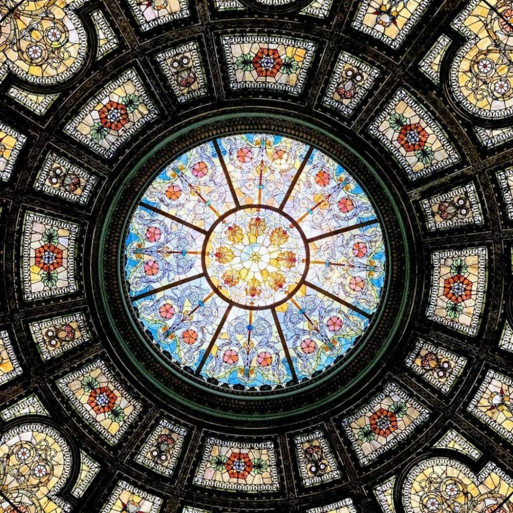 The Tiffany Dome of Chicago Cultural Center