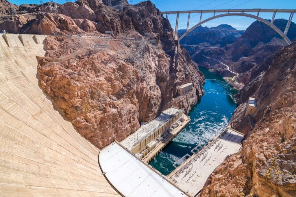 Beautiful view of Hoover Dam and Lake Mead Best things to do en Las Vegas
