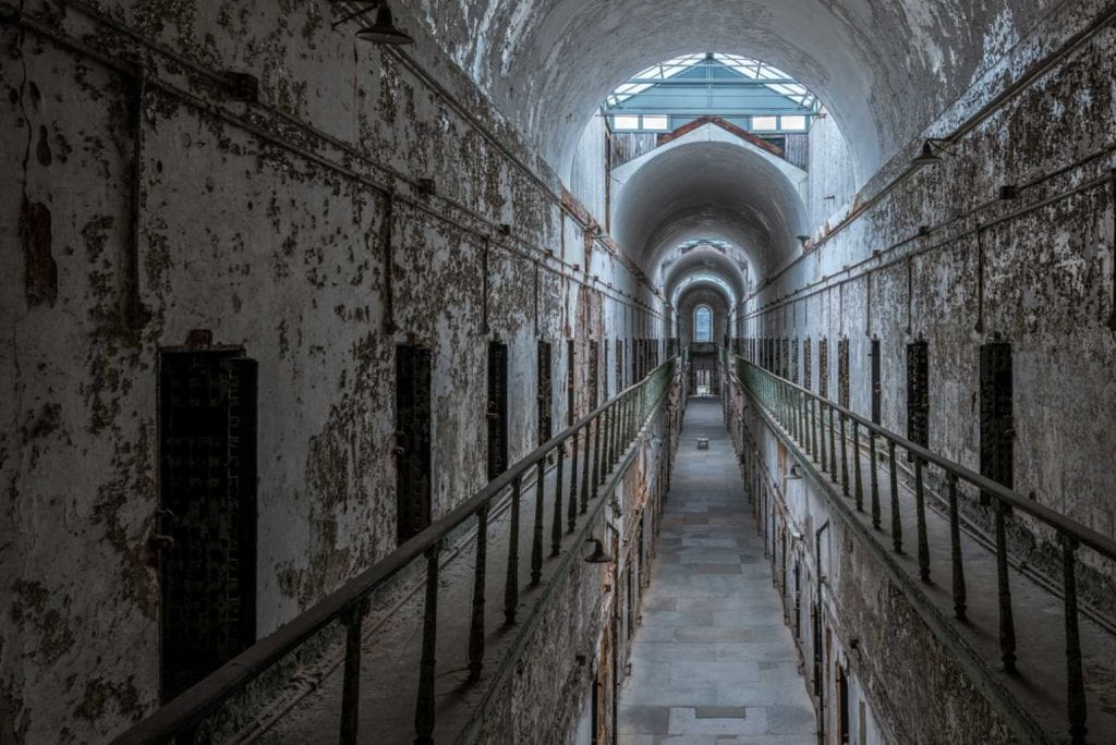 Cell block in the Eastern State Penitentiary - Bests things to do in Philadelphia