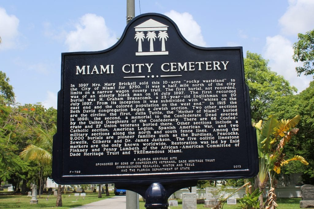Dade Heritage Trust - Miami City Cementery Marker | Things to do in miami