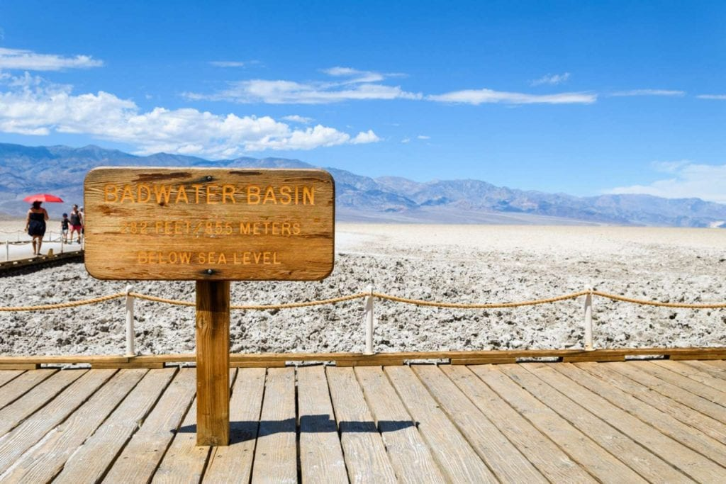 Desert landscape at Badwater Basin in Death Valley Best things to do in Las Vegas