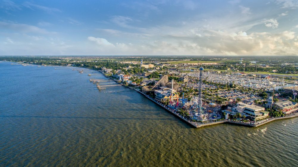 Flying over the Kemah Boardwalk | things to do in houston
