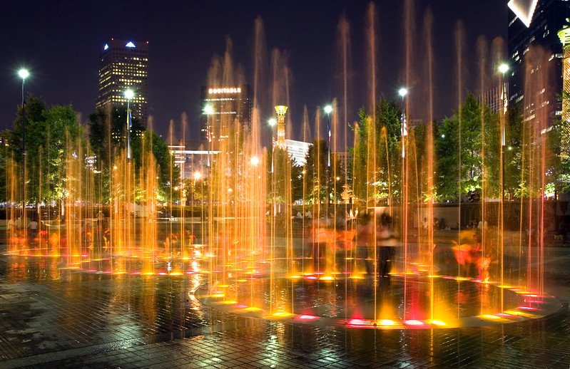 Fountain Rings at Centennial Olympic Park | best things to do in atlanta