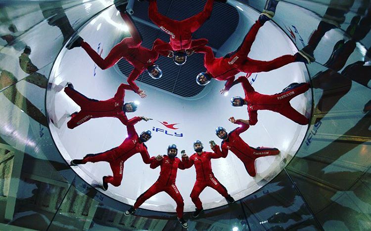 Group of friends enjoying at iFly | things to do in houston