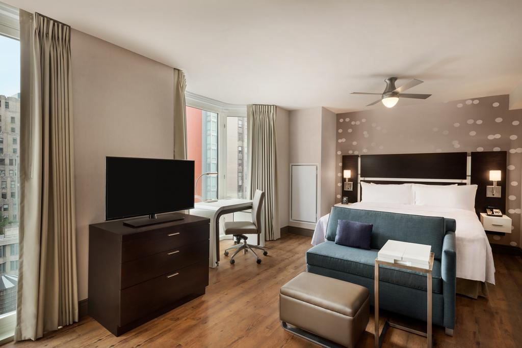 Homewood Suites room with work place