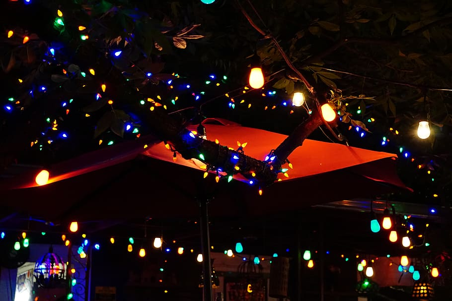 Illuminating atmosphere at Spider House Cafe | best things to do in Austin