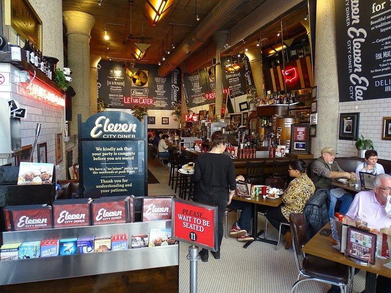 Interior of Eleven City Diner