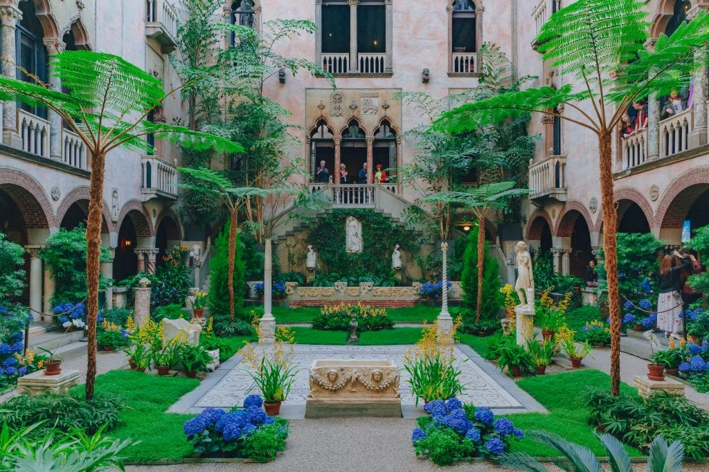 Interior view of Isabella Stewart Gardner Museum | best things to do in boston