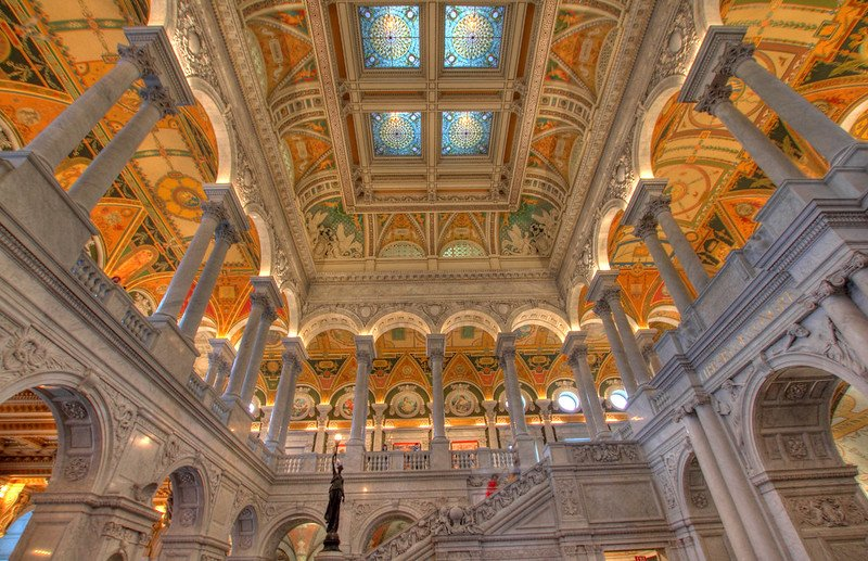 Library of Congress - Library of Congress Great Hall HDR | things to do in dc