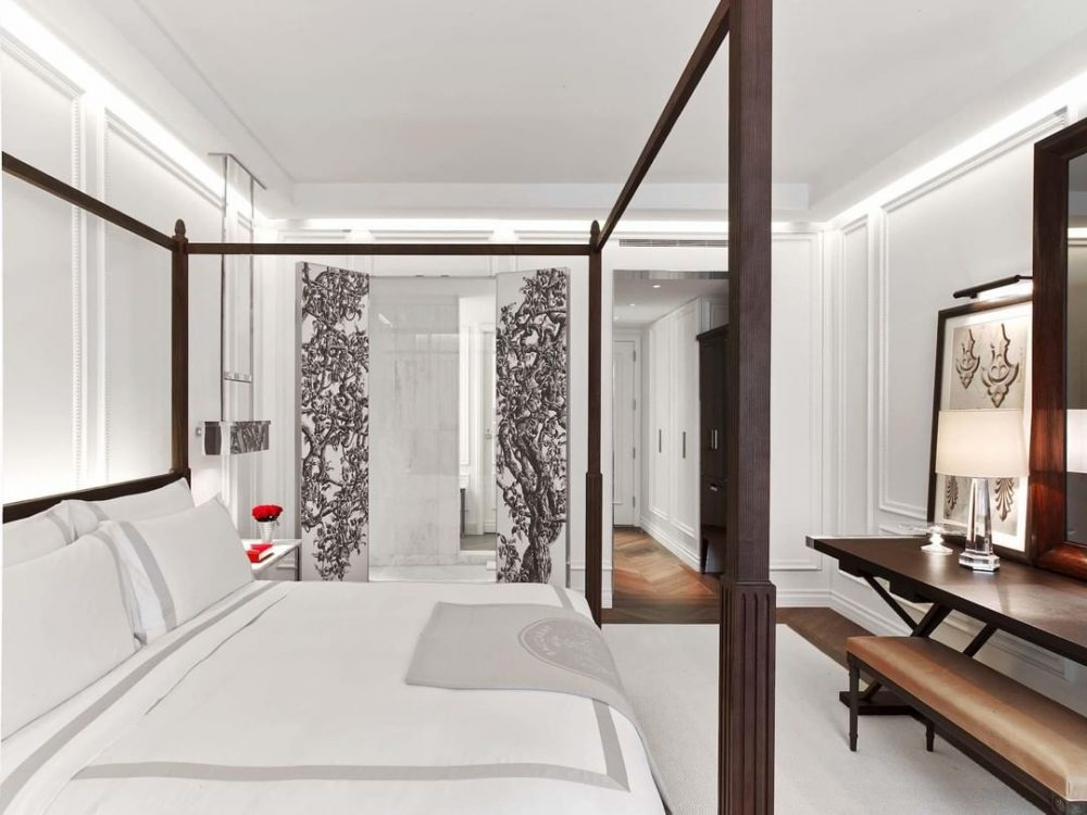 Luxury bedroom at Baccarat Hotel | things to do in nyc