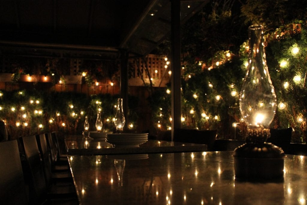 Magical night time view in Gather | best brunch places in chicago, brunch in chicago