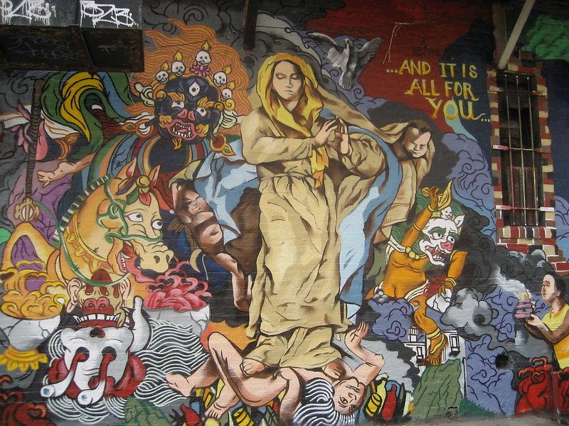 Mural on the Wall of Mars Bar | things to do in nyc