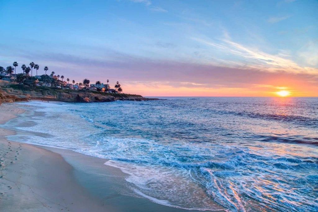 Magnificent sunset on La Jolla- Best Beaches in San Diego
