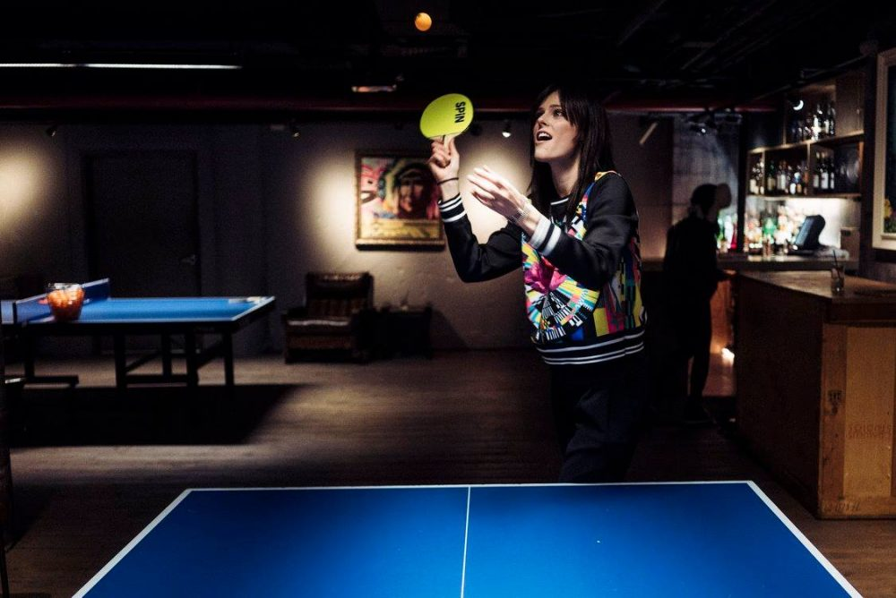 SPIN Washington D.C. - Women playing table tennis at SPIN Washington D.C | things to do in dc