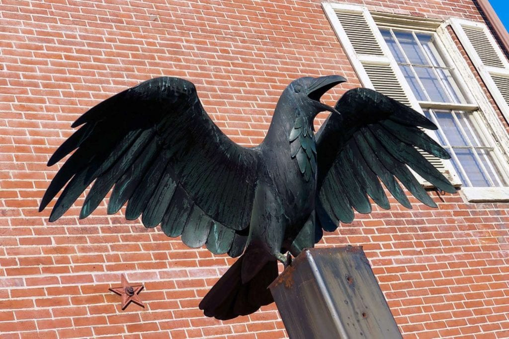 Sculpture of The Raven at Edgar Allen Poe National Historic Site - Best things to do in Philadelphia