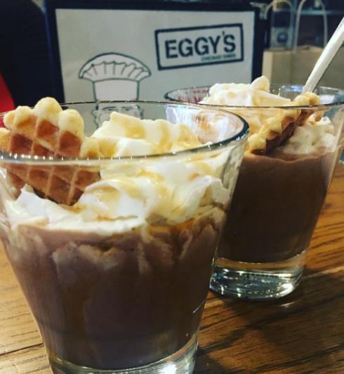 Seasonal winter sweets in Eggy's Diner