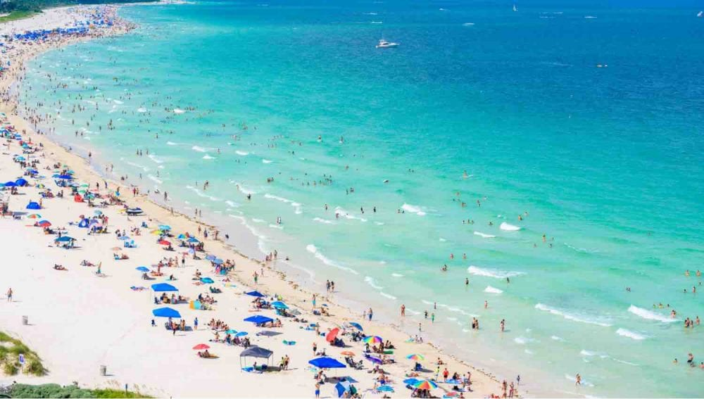 South Beach, Miami Beach. Tropical and Paradise coast of Florida, USA. Aerial view | Things to do in Miami