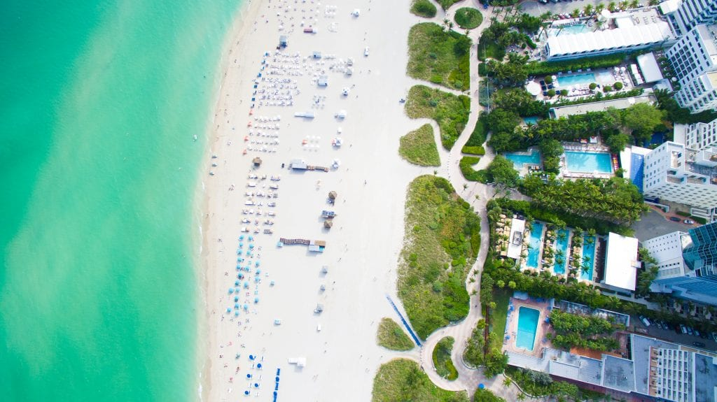 South Beach photo from above | best thing to do in Miami