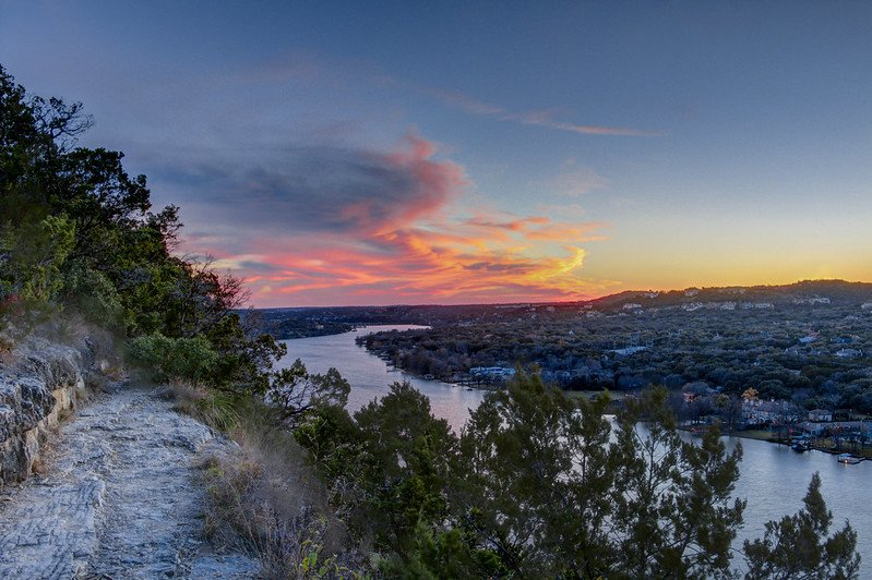Sunset from Mount Bonnell | best things to do in Austin