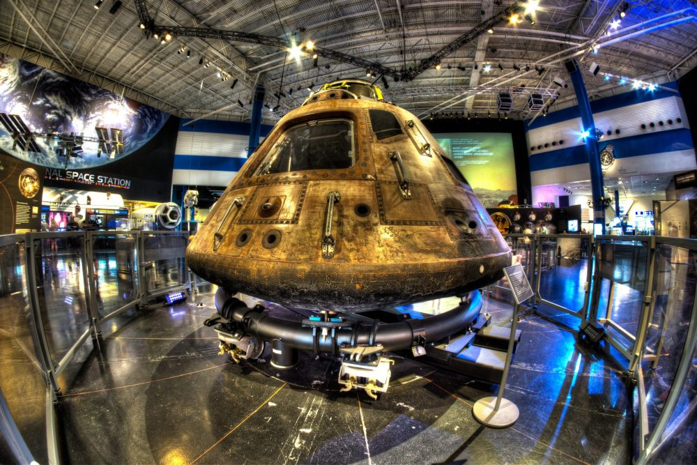 The Apollo 11 Command Module display at Space Center Houston | things to do in houston
