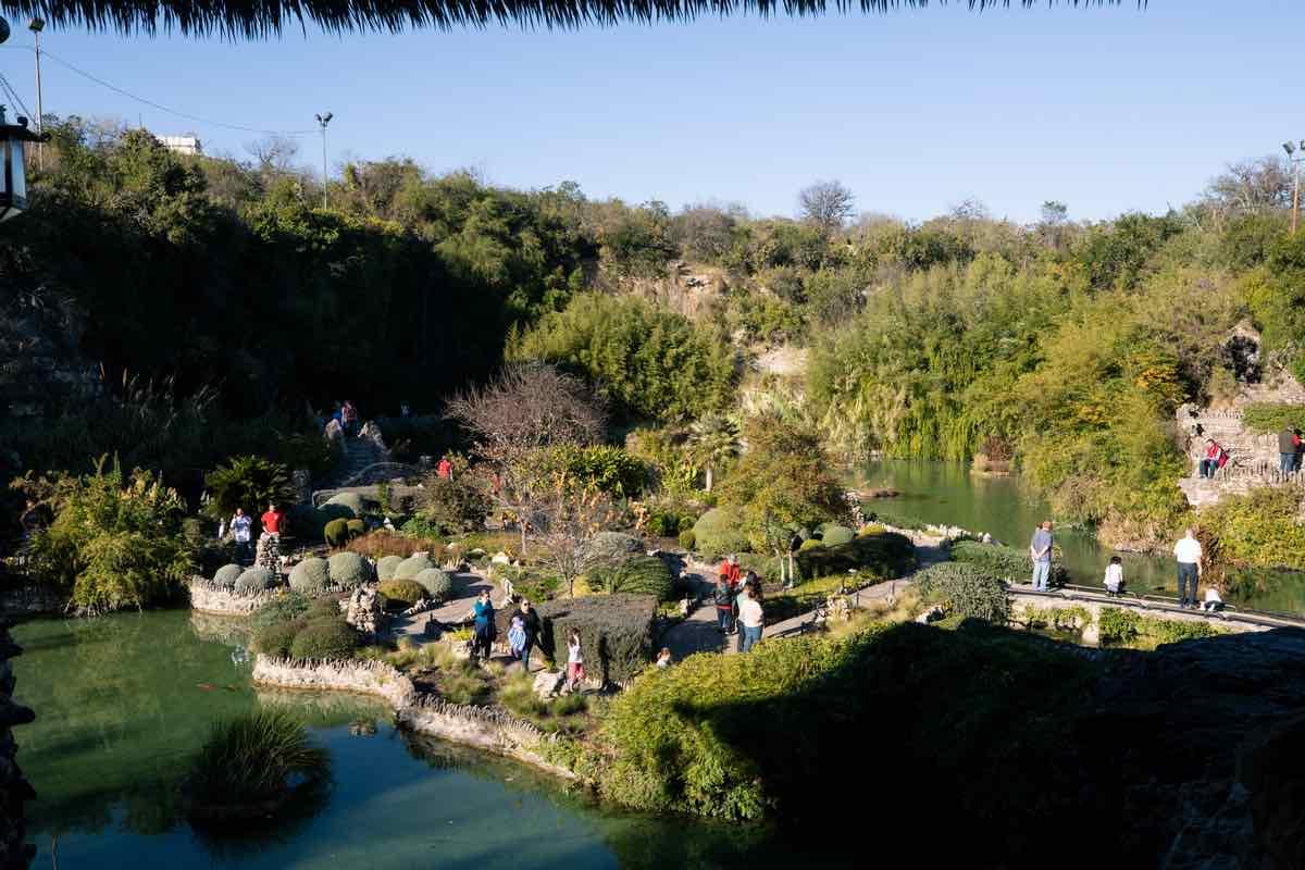 The San Antonio Japanese Tea Garden, or Sunken Gardens in Brackenridge Park