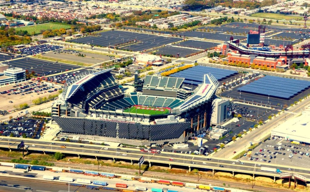 The aerial view of Lincoln Financial Field, the main football stadium in the city - Best things to do in Philadelphia