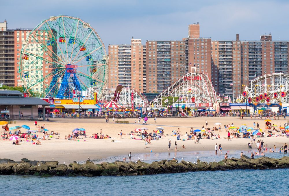 The beach and the amusement park at Coney Island | things to do in nyc