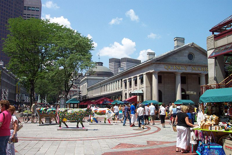 The busy Quincy Market | best things to do in boston