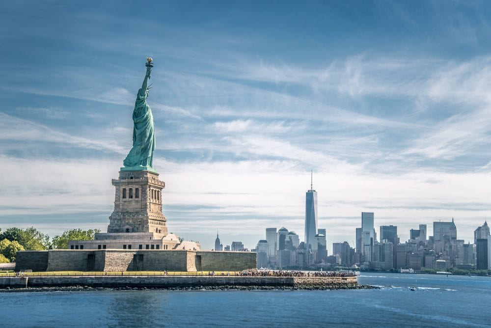 The statue of Liberty and Manhattan, New York City | things to do in nyc