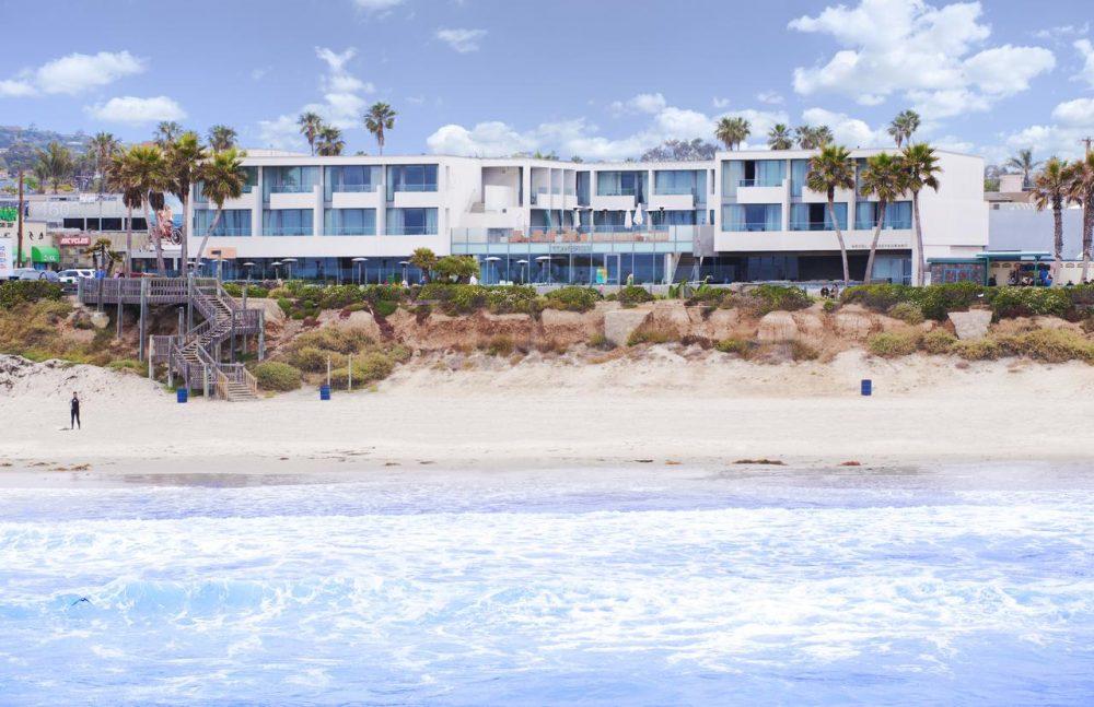 Beachfront view of Tower23 Hotel in San Diego | Best hotels in San Diego