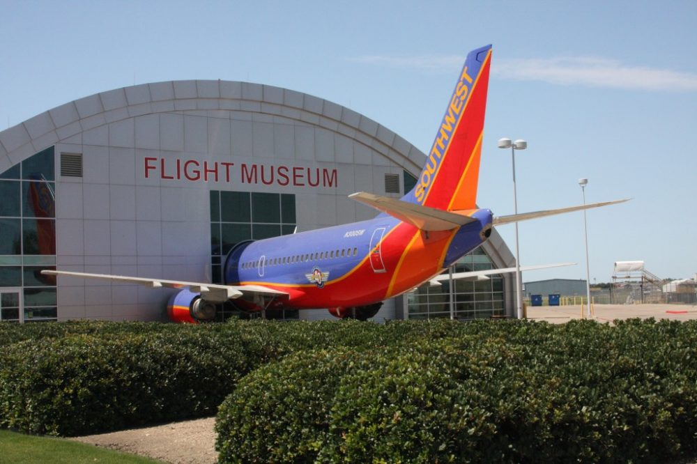 A Southwest Airlines Boeing display at the Frontiers of Flight Museum | best things to do in dallas