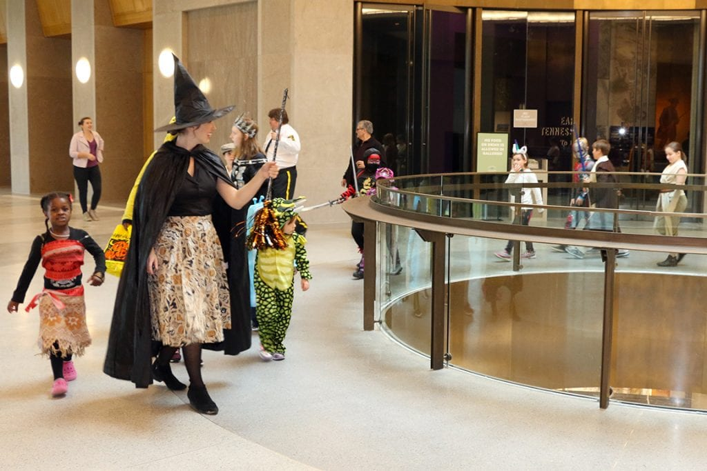 A costume parade rolls through the Tennessee State Museum | best things to do in nashville