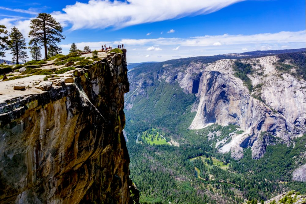 A group of people visiting Taft Point