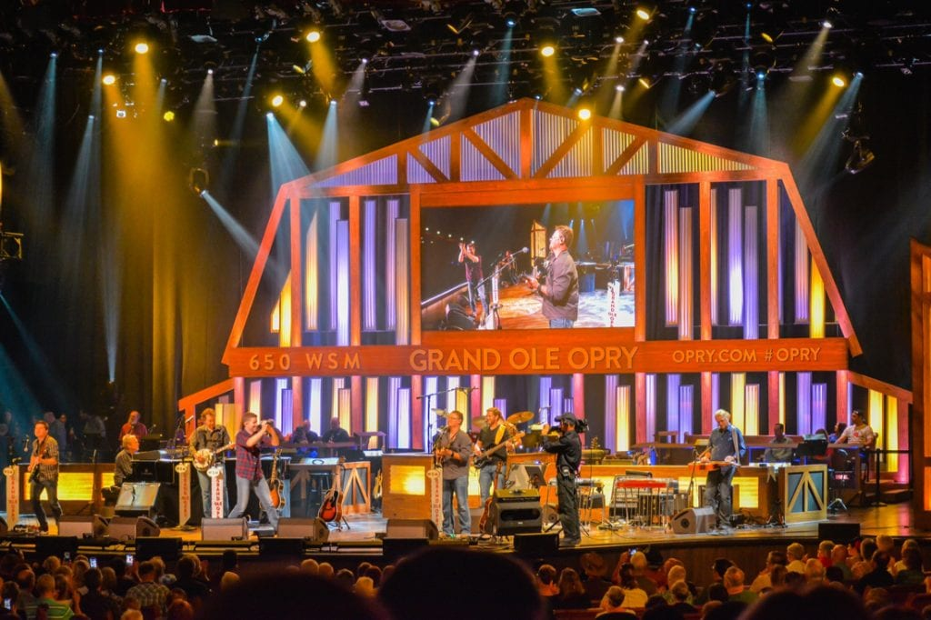 A night of country music stage concert at the Grand Ole Opry | best things to do in nashville