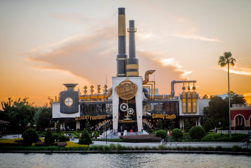 A view of the Toothsome Chocolate Emporium | things to do in orlando