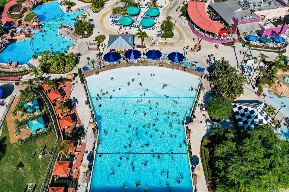 Aerial view of Adventure Island | best things to do in tampa