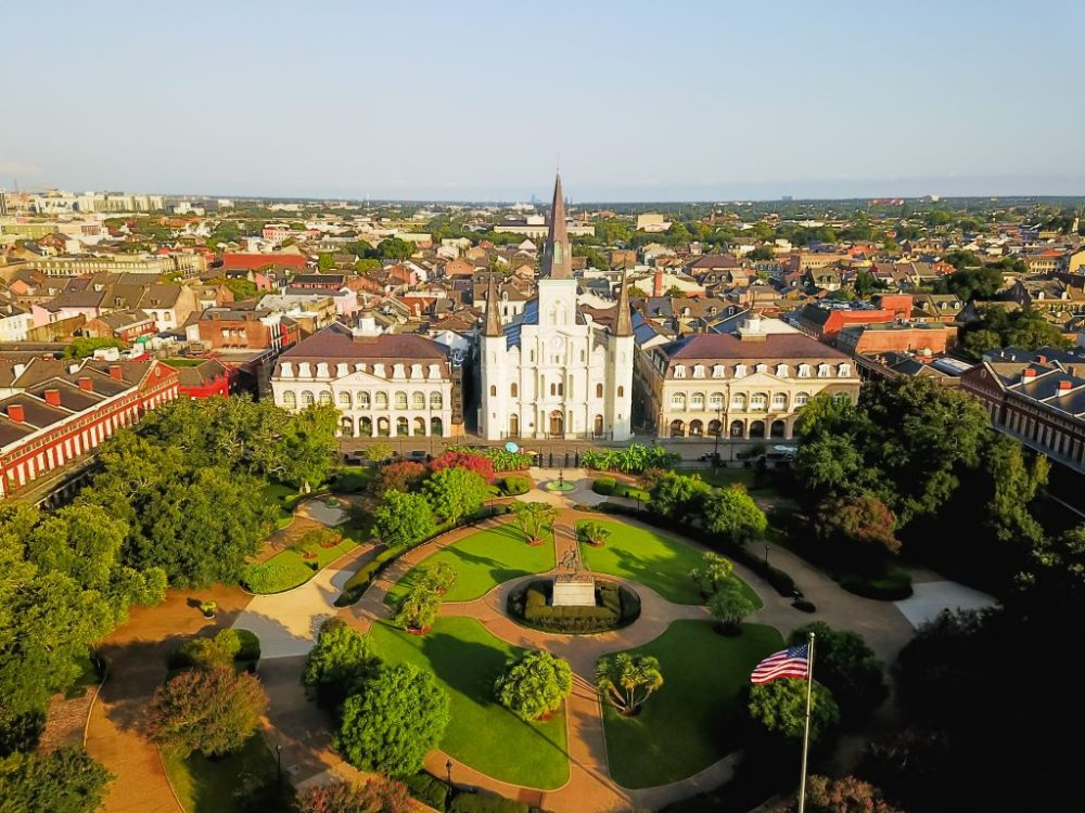 Aerial view of Jackson Square | best things to do in new orleans