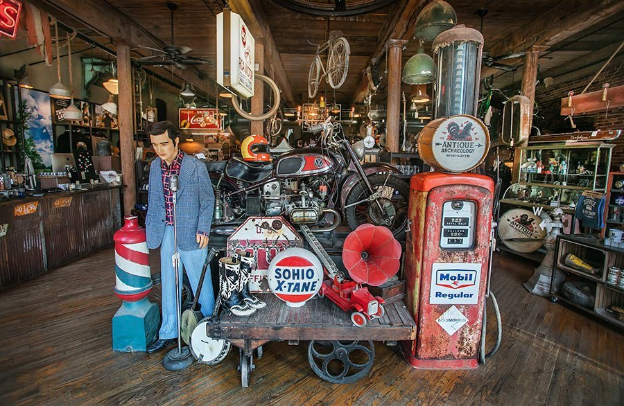 Antique collections at Antique Archaeology | best things to do in nashville
