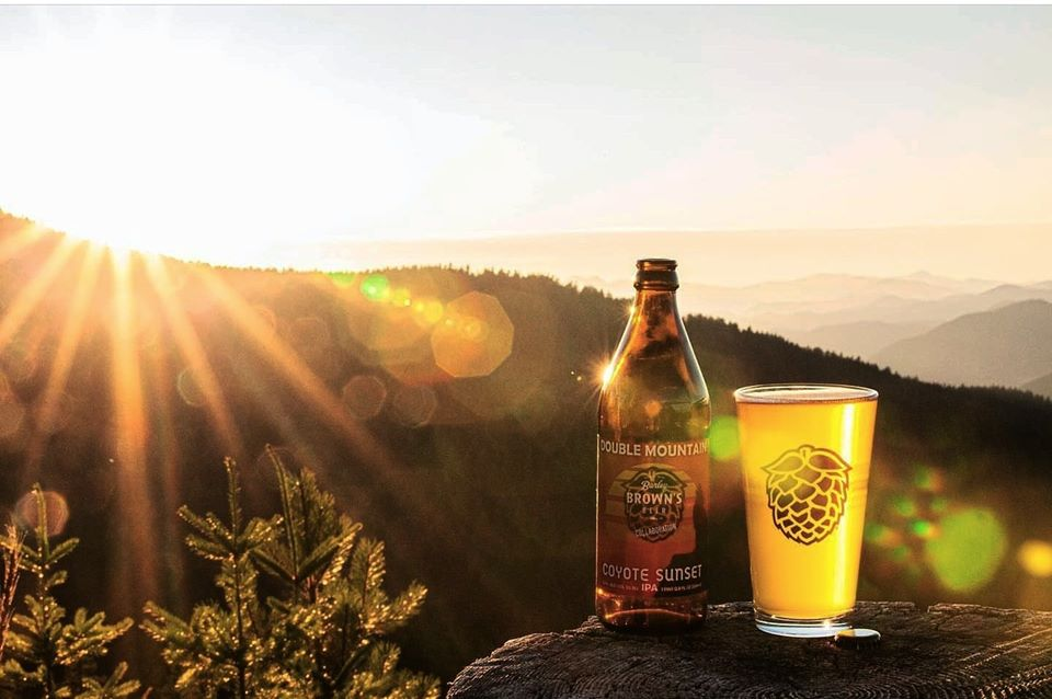 Beers in Loyal Legion with beautiful sunset | things to do in portland