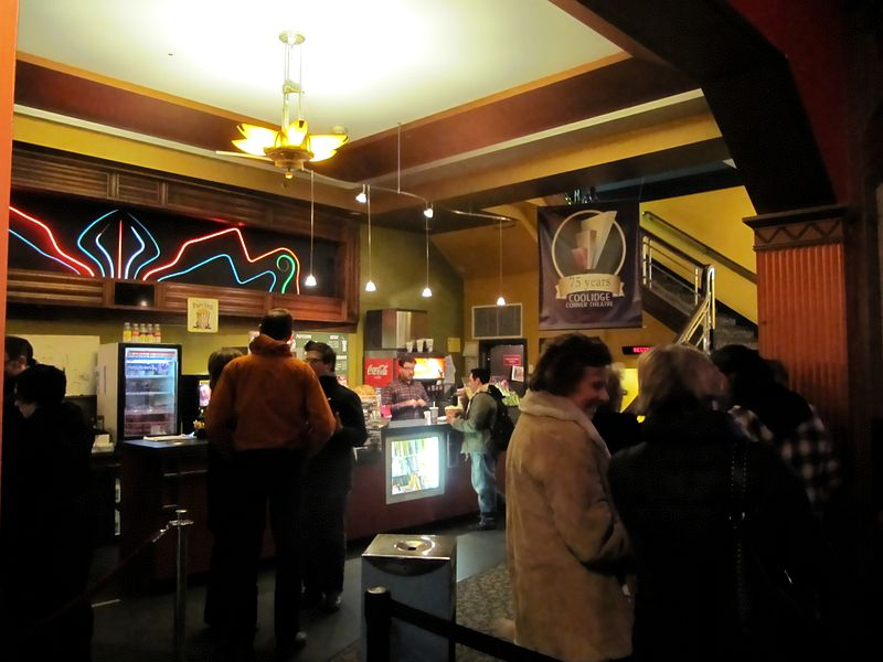 Coolidge Corner Theatre lobby | best things to do in boston
