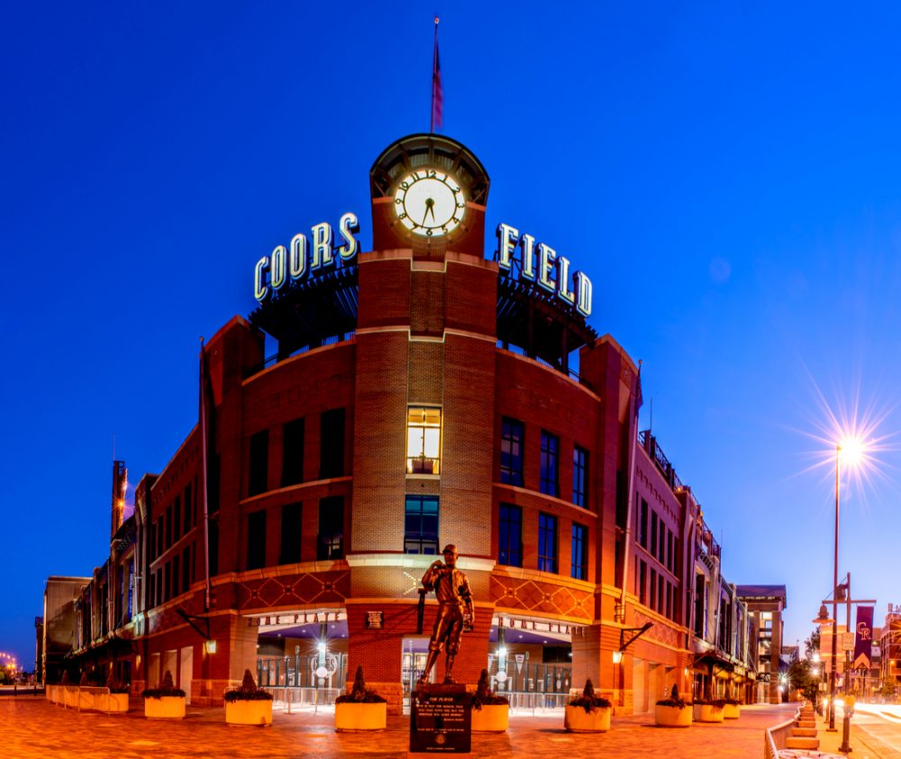 Coors Field, home of the Colorado Rockies baseball team | things to do in denver