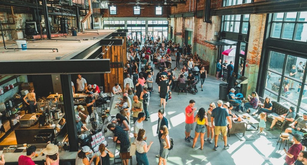 Crowds gathering at Armature Works | best things to do in tampa