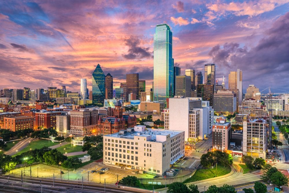 Dallas, Texas, USA downtown city skyline | best things to do in dallas