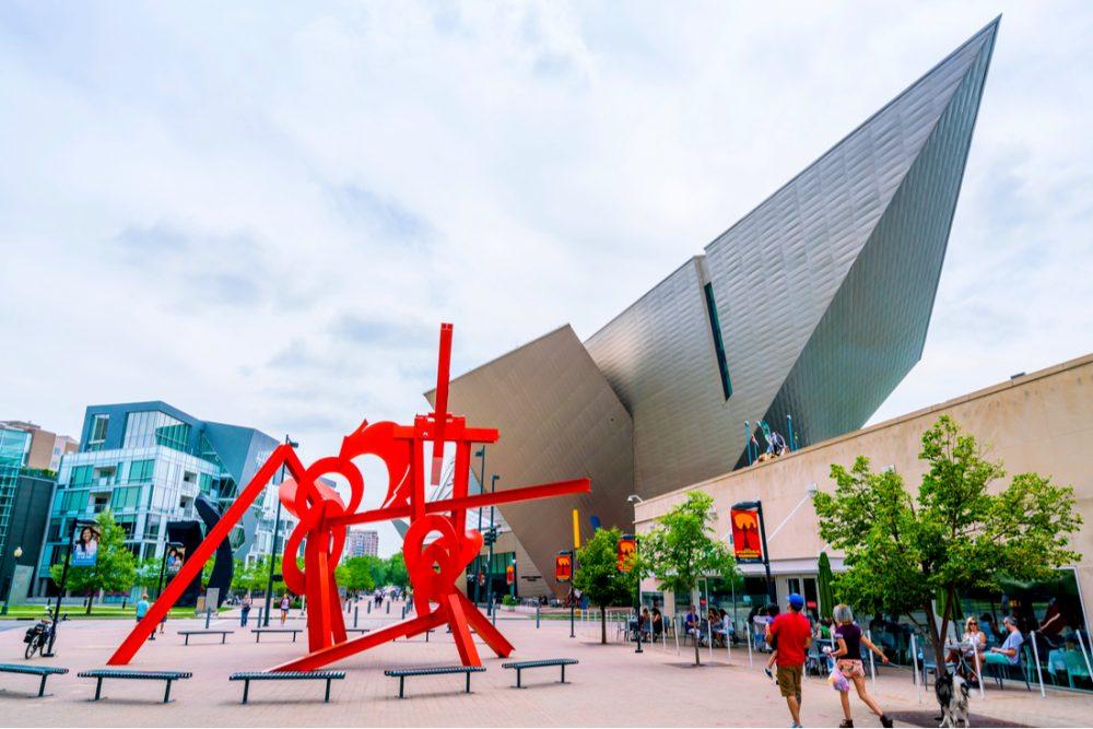 Denver Art Museum on sunny day | things to do in denver